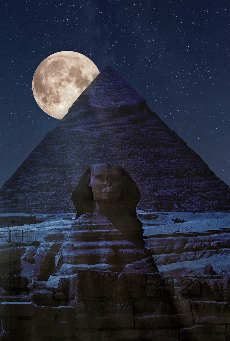 Image result for egyptian pyramids at night